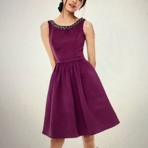 Keyhole Back Plum Formal Dress
